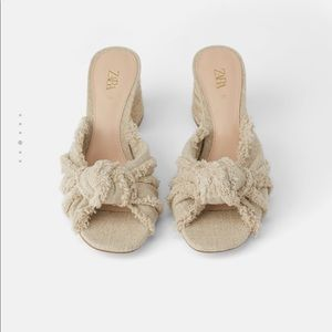 Zara knotted sandals
